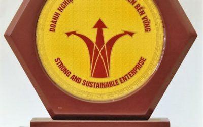 Chứng nhận danh hiệu Doanh nghiệp mạnh và phát triển bền vững năm 2015